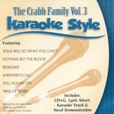 The Crabb Family, Volume 3, Karaoke Style CD