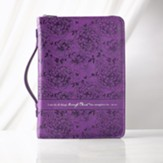 I Can Do All Things Bible Cover, Purple, Large