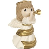 Make Music from the Heart, Angel with Trumpet Figurine