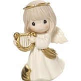 Make Sweet Melody, Angel with Harp Figurine