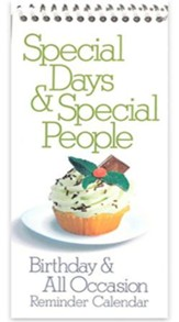 Cupcake Special Days and Occasion Reminder Calendar