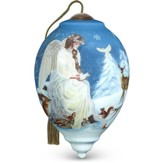 Winter's Woodland Angel Ornament