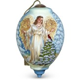 Winter Forest Angel Ornament