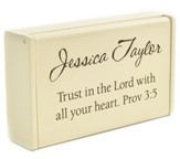 Personalized, Wooden Box, Trust in the Lord, Cream