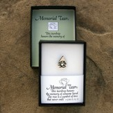 Memorial Tear Sterling Silver Lapel Pin  - Slightly Imperfect
