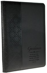 Guidance Proverbs 3:6 Folder, Black