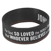 Witness Gear Wristband John 3:16, Black