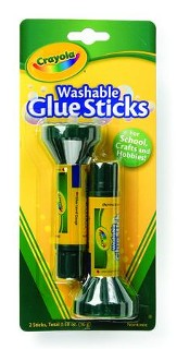 Crayola, Washable Glue Sticks, 2 Pieces