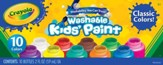 Crayola, Washable Kids Paint, 10 Pieces