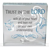 Trust In the Lord Glass Block