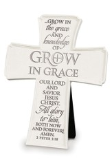 Grow In Grace Tabletop Cross