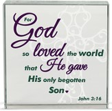For God So Loved Table Top Plaque