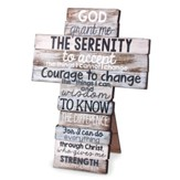 Serenity Prayer Stacked Words Cross, Large