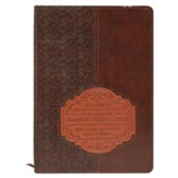 For I Know the Plans Lux-Leather Journal, Brown Patch