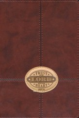 Trust In the Lord Lux-Leather Journal, Brown Patch