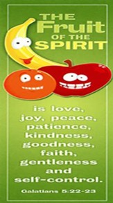 Fruit of the Spirit (Galatians 5:22-23, HCSB) Kids Bookmarks, 25