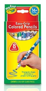 Crayola, My First Crayola, Washable Easy Grip Colored Pencils, 8 Pieces