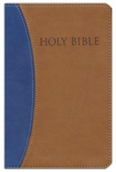 KJVer (Easy Reader) Personal Size Bible, Ultrasoft Blue/Tan