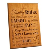 Blank, Family Rules Plaque