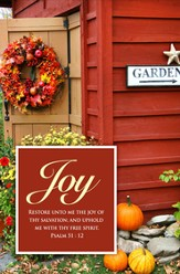 Fall Joy (Psalm 51:12) Bulletins, 100