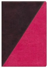 NKJV Study Bible, Full-Color Leathersoft Rich Raspberry & Rich Mahogany
