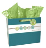 Buttons Gift Bag, Baby Boy , Large