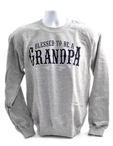 Blessed to Be a Grandpa, Sweatshirt, Small (36-38)