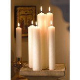 Altar Candles, 1 1/2 x 12, Plain End, Set of 12