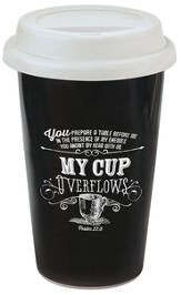 My Cup Overflows, Chalkboard Travel Mug