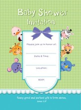 Baby Shower Invitation, Baby Animals, Box of 10