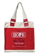Hope, Retro Canvas Tote Bag