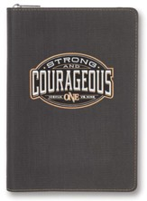 Be Strong & Courageous, Journal with Zipper