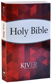 KJV Thinline Personal Size Bible, Paper, Red