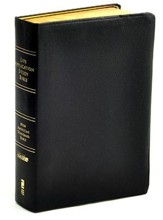 NASB Life Applilcation Study Bible, Genuine leather, black Indexed - Slightly Imperfect