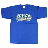MEGA Sports Camp T-Shirt, Youth Small (6-8), blue