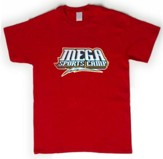 MEGA Sports Camp T-Shirt, Youth Small (6-8), red