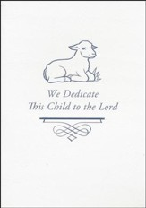 Embossed Baby Dedication Booklet (KJV & NIV)