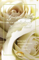God Gave Us Love (Ecclesiastes 3:11) Wedding Bulletins, 100