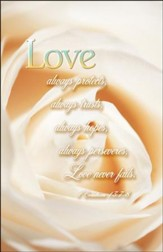 Love Never Fails (1 Corinthings 13:7-8) Wedding Bulletins, 100
