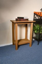 Credence Table, Hardwood Maple with Pecan Finish