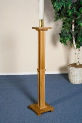 Paschal Candle Holder, Hardwood Maple with Pecan Finish