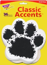 Black Paw Print Classic Accent