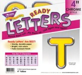 Yellow 4 In. Colorful Chrome Uppercase Ready Letters