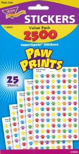 Paw Prints SuperSpot Stickers Value Pack