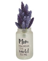 Mom You Mean the World to Me Mason Jar with Lavender