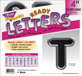 Black 4 In. Colorful Chrome Uppercase Ready Letters