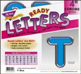 Blue 4 In. Colorful Chrome Uppercase Ready Letters
