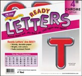 Red 4 In. Colorful Chrome Uppercase Ready Letters