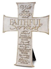 Faithful Servant Cross, White