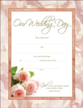 Wedding Roses Certificates (1 John 4:6, ESV) 6
